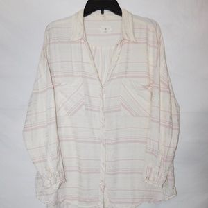 Lou & Grey Striped Pocket Shirt Oversized Fit Med